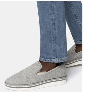 Herve Slippers in Grey Felt | Dolce Vita